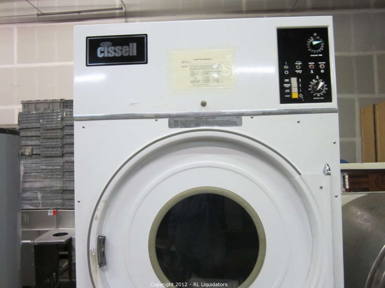 Industrial Clothes Dryer ~ Rl general auctions auction commercial washer and dryer