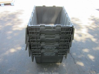 4-Gray Utility Bins w/lids