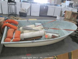 "Never Used 6' 8"" Life Boat - Coast Guard Approved in 1983 (according to 1983 C.G. rules)"