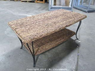 Wicker Wood Table