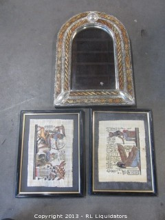 Nice Framed Mirror and Framed Pictures