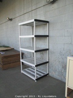 5 Shelf Plastic Shelving Unit