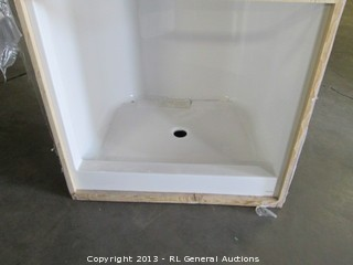 Lot #PAW0101 New Aqua Glass Shower Insert
