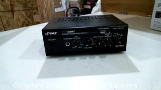 Pyle  Stereo Power Amplifier Power on Please Preview