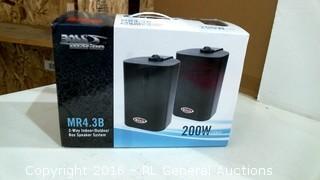 Boss 3-Way Indoor/Outdoor Box Speaker system