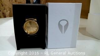 Nixon Cannon Unisex Gold Plated Watch MSRP $150.00