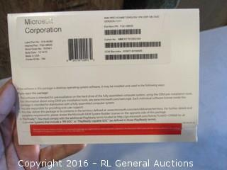 Microsoft Corporation Win Pro 10 64BIT English 1PK DSP OEI DVD Version 1511