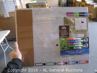 Magnetic Dry erase combo board