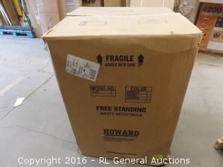 Rubbermaid Free Standing Waste Receptacle Package Damaged New In Box