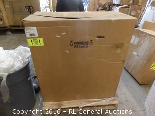 Sandusky Combo Bl Truck, 1 Flat shelf on top w.casters See Pics Packaged Damaged New in Box
