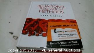 Behavioral Research Methods