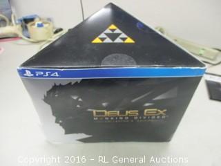 PS4 Deus EX Game And Figurine