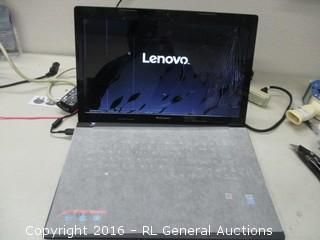Lenovo Laptop (Cracked Screen,Powers On)
