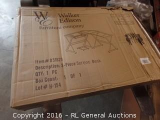 Walker Edison 3 Piece Soreno desk Package damaged New in Box