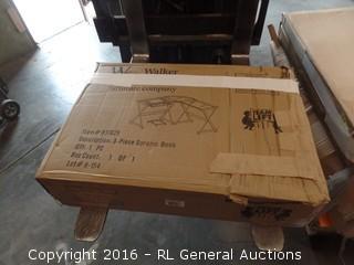 Walker Edison Soreno 3 Piece Desk Package damaged New in Box