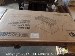 Canopy Metal Bed Package Damaged New in Box
