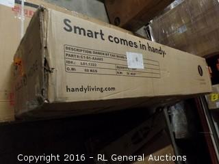 Handy Living Damen Microfiber Convert-a-Couch, Mocha (Package Damaged,New In Box)