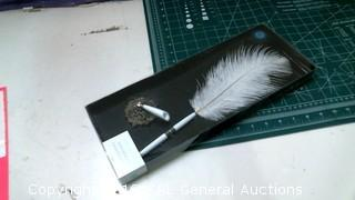 Feather Pen and stand