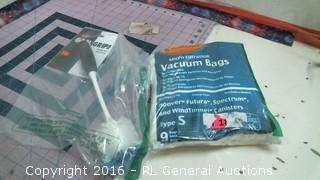 Dish Brush and vacuum bags