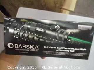 Barska GLX Green 5mW tactical Laser Sigh W/ Picatinny Rall