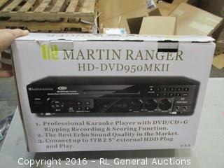 Martin Ranger karaoke Player with DVD/CD + G