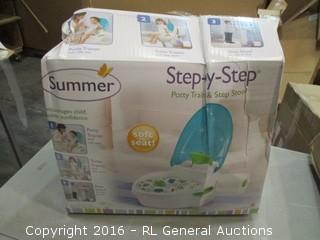 Step by Step Potty Trainer and step stool