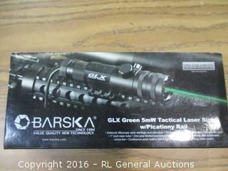 Barska GLX Green 5mX Tactical Laser Sight w/Picatinny Rail