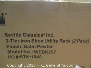 3 Tier Iron Shoe Utility Rack