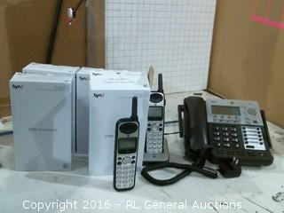 SMB Telephony 4 line corded/cordless small business system