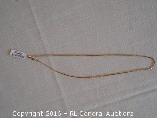 """New Danecraft 20"""" 24KT Gold over Sterling Silver Necklace Made in Italy"""