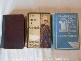 Antique Books 1901, 1905, 1914 George Barr McCutcheon