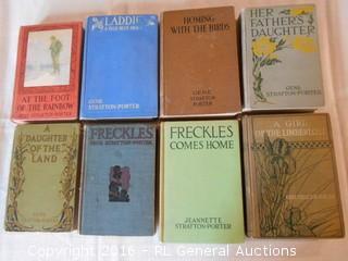 Antique Books 1907-1929 Gene Stratton Porter (7) & Jeanette Stratton Porter (1)