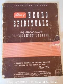 Rare 1940 Album of Negro Spirituals - Swing Low Sweet Chariot, Nobody Knows De Trouble I See ++