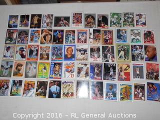 Vintage Sportscards Lot - Michael Jordan, Larry Bird, Magic Johnson, James Worthy, Nolan Ryan, Griffey Jr. ++