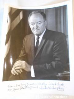 Hubert H. Humphrey 8X10 Photo - Signed
