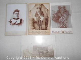 Antique Cabinet Cards / Photo Cards Including Military Soldier, Drug Store +