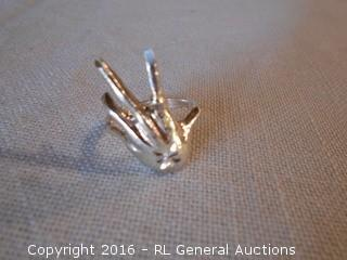 Sterling Silver 925 Ring - Hand