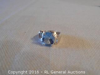 Sterling Silver 925 Ring w/ Blue Topaz Stone