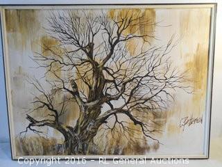 "Original Artwork on Canvas Signed ""C. Patterson""  41"" W X 31"" T"