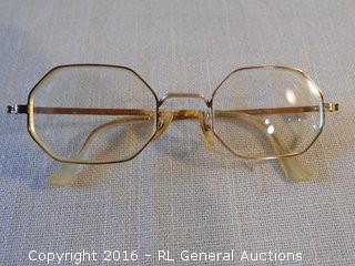 Vintage 12Kt Gold Filled Reading Glasses