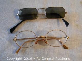 Vintage 12Kt Gold Filled Reading Glasses - As Is