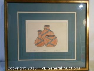 "Original Artwork Signed & #'d 227/750  ""Mesa Jars II""  25.5"" W X 21.5"" T"
