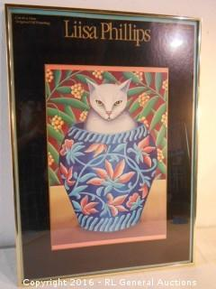 """Cat In A Vase"" by Liisa Phillips - The Portal Collection  Sausalito, CA  20.25"" W X 28.25"" T"