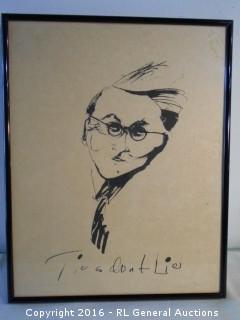 """Framed Print """"Ties Don't Lie""""  19"""" W X 24"""" T"""