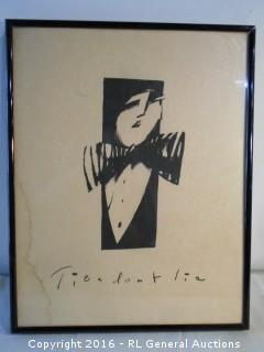 "Framed Print ""Ties Don't Lie"" 19"" W X 24"" T  As-Is"