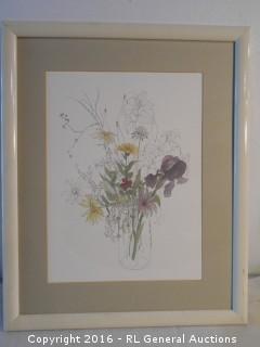 "Print Artwork Signed - No Glass - 17.5"" W X 21.5"" T"
