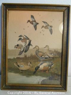 "Vintage Duck Artwork Print ""Lynn Bogue Hunt""  10.5"" W X 13.75"" T"