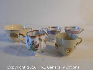Antique Hand Painted Cups - Royal Crest China +