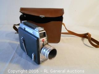 Vintage Kodak Cine-Kodak Royal Movie Camera w/ Leather Case