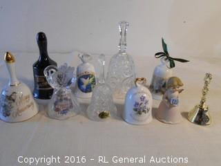 Vintage Bells Lot - San Francisco, Chatillon Porcelain Japan, Landmark Designs Crystal, Lego, Lipco +